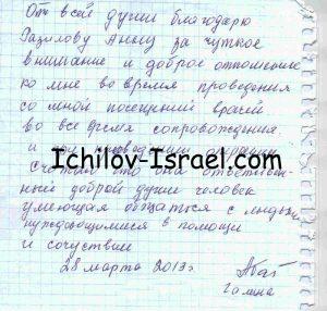Отзыв о лечении в больнице Ихилов-Сураски в Израиле